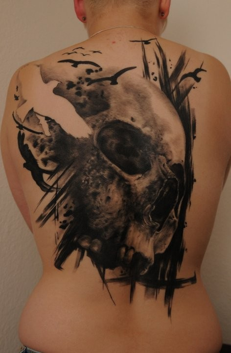 Skull And Bird Tattoo Tattoospictures567